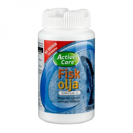 Active Care Omega-3 Fiskolja - 120 st