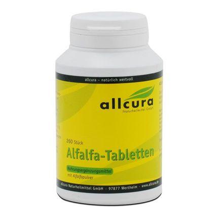allcura Alfalfa, Tabletter