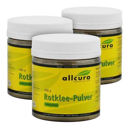3 x allcura Rotklee Bio, Pulver