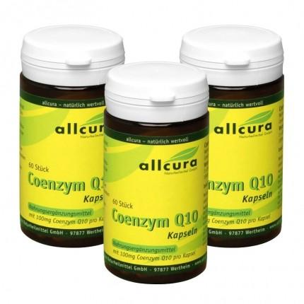 3 x allcura Coenzym Q 10, Kapseln 100 mg