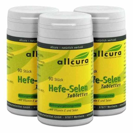 3 x allcura Hefe-Selen, Tabletten