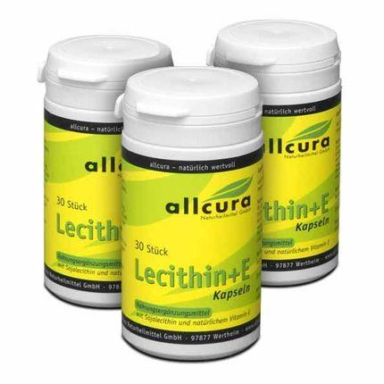 3 x allcura Lecithin + E, Kapseln