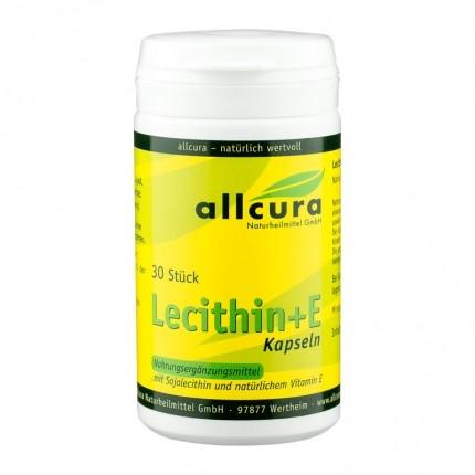 allcura Lecithin + E (30 Kapseln)