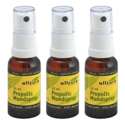 allcura, Propolis, spray buccal, lot de 3