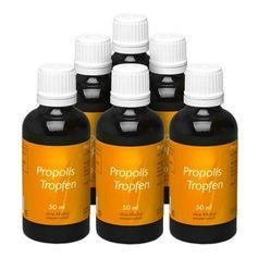 6 x allcura Propolis ohne Alkohol, Tropfen