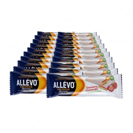 Allévo High Protein Low Calorie Bar, Strawberry Cheesecake