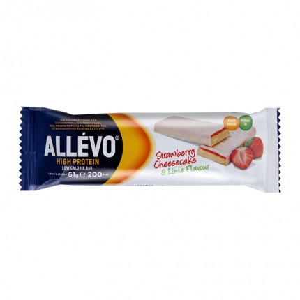 5 x Allévo High Protein Bar, Strawberry/Lime Cheesecake