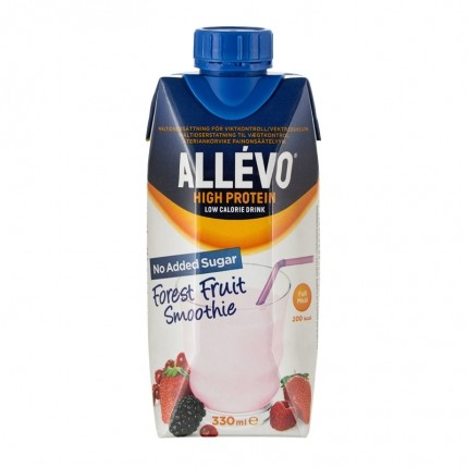 3 x Allévo High Protein, skogsbær-smoothie
