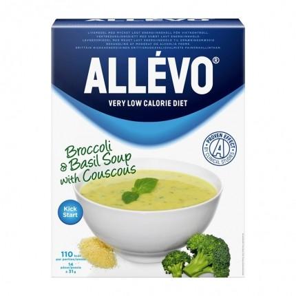 Måltidserstatningspakke: Allévo Suppe Broccoli/Basilikum og BEAVITA Vanilje, Pulver