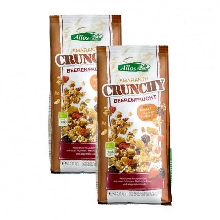 Bio Amaranth Crunchy, Beere (2 x 400 g)