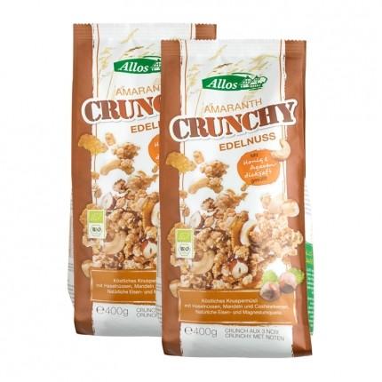 Bio Amaranth Crunchy, Nuss (2 x 400 g)