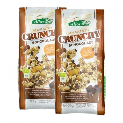 Bio Amaranth Crunchy, Schokolade (2 x 400 g)