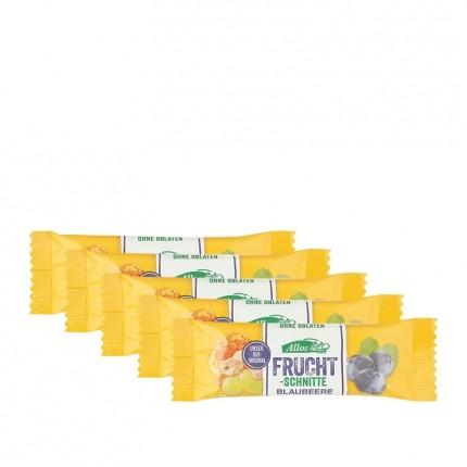 5 x Allos Fruchtschnitte Blaubeere