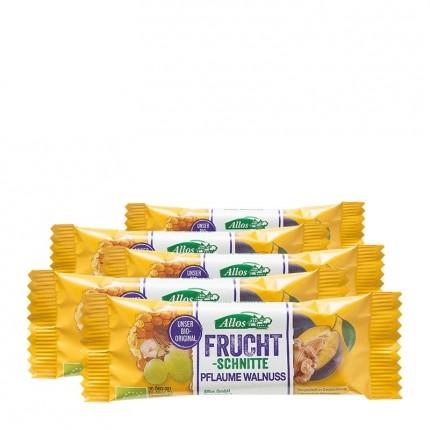 5 x Allos Fruchtschnitte Pflaume-Walnuss