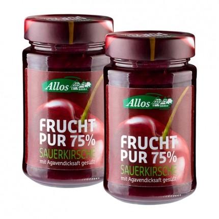 Allos Bio Frucht Pur 75 %, Sauerkirsche (2 x 25...