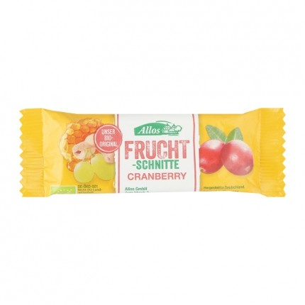 Allos Fruit Bar Cranberry