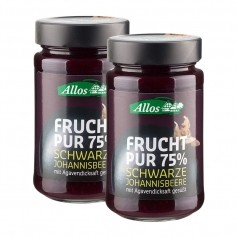2 x Allos Frucht Pur Schwarze Johannisbeere