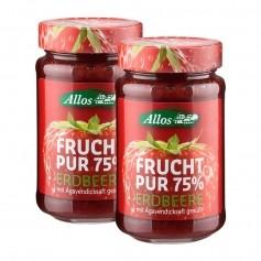 2 x Allos Frucht Pur Erdbeere