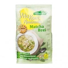 Allos Amaranth-Frühstücksbrei Matcha