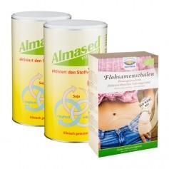 Almased Ballaststoff-Paket: Doppelpack Vitalkost + Govinda Flohsamenschalen