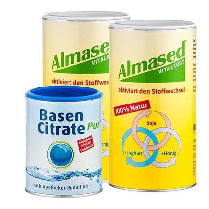 Almased Basen Paket: Doppelpack Vitalkost + Bas...