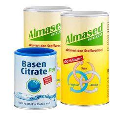 Almased Basen Paket: Doppelpack Vitalkost + Basen Citrate Pur