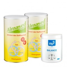 Almased Basen-Paket: Doppelpack Vitalkost + nu3 Säure-Basen-Balance