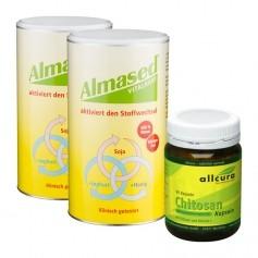 Almased Fett-Weg-Paket: Doppelpack Vitalkost + allcura Chitosan