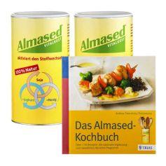 Almased Genuss-Paket: Doppelpack Vitalkost + Almased-Kochbuch