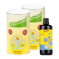 Almased Komplett-Paket: Doppelpack Vitalkost + demeter Leinöl