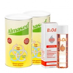 Almased Straffungs-Paket: Doppelpack Vitalkost + Bi-Oil Hautöl