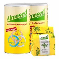 Almased Power Paket: Doppelpack Vitalkost + Vital-Tee