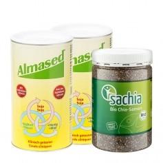 Almased Superfood-Diät Paket: Doppelpack Vitalkost + Sachia Bio Chia Samen