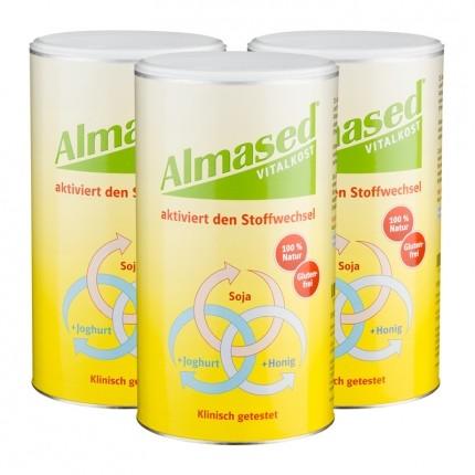 3 x Almased Vitalkost, Pulver