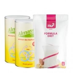2 x Almased Vitalkost, Pulver + nu3 Formula Diet, Pulver