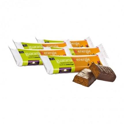 Amazonas, Barres énergétiques guarana-chocolat, lot de 5