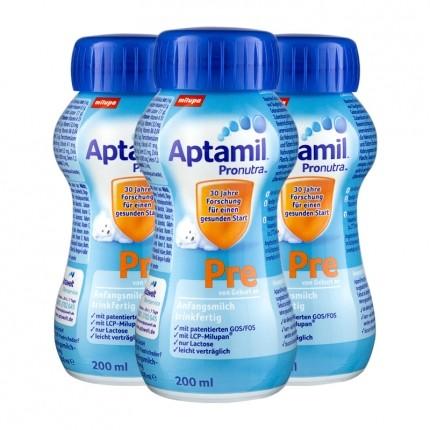 Aptamil Pre Anfangsmilch, trinkfertig (3 x 200 ml)
