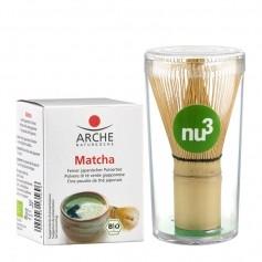 Arche Bio Matcha Pulvertee mit nu3 Matcha Besen