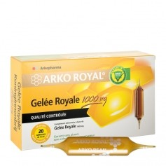 Arko royal, Arkocéan, Azinc, Arkofluide Arko Royal Gelée Royale 1000mg - lot de 2 - boite de 20 ampoules de 15ml