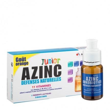 Azinc Azinc Défenses naturelles enfants goût orange - 5 Doses de 7ml