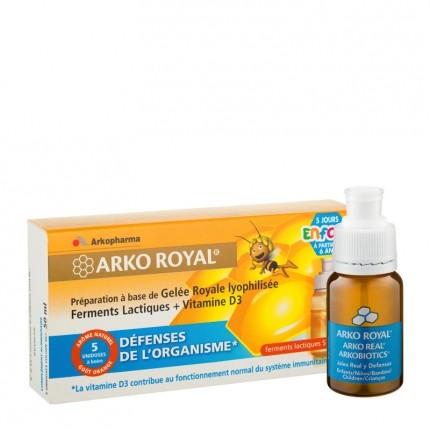 Arko royal, Arkocéan, Azinc, Arkofluide Arko Royal Défenses Naturelles (enfants dès 6 ans) - 5 doses de 10ml
