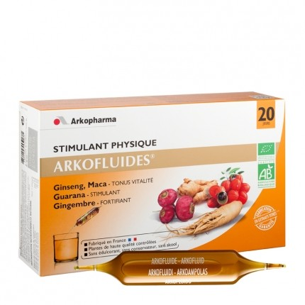 Arkofluide Arkofluide Stimulant Bio - Boite de 20 ampoules de 15ml