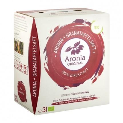Aronia Original Bio Aronia + Granatäpple 100% färskpressad juice, 3000 ml