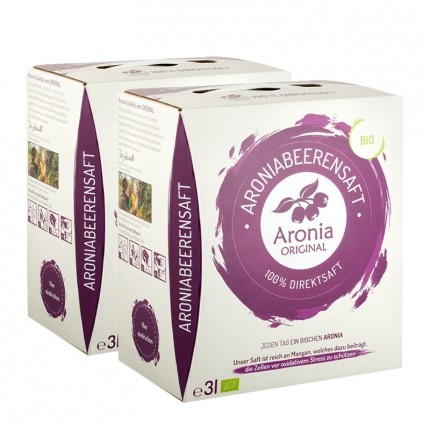 2 x Aronia Original økologisk, ferskpresset aroniajuice - månedspakke