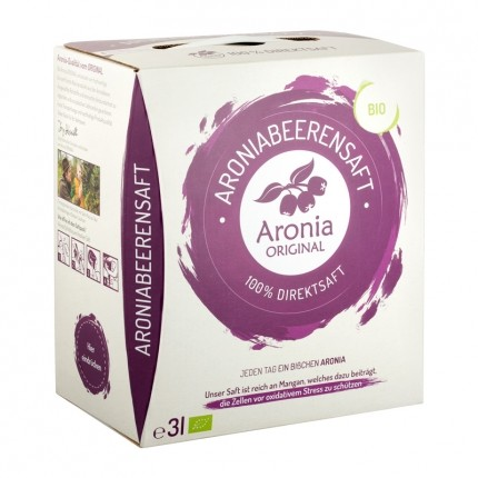 Aronia Original økologisk, ferskpresset aroniajuice + bær