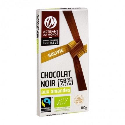 CHOCOLAT NOIR À L'AMANDE