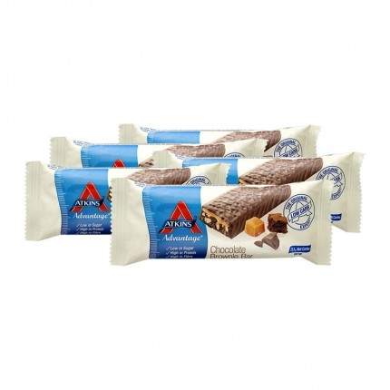Atkins Advantage, Assortiment barres chocolatées low-carb, lot de 5
