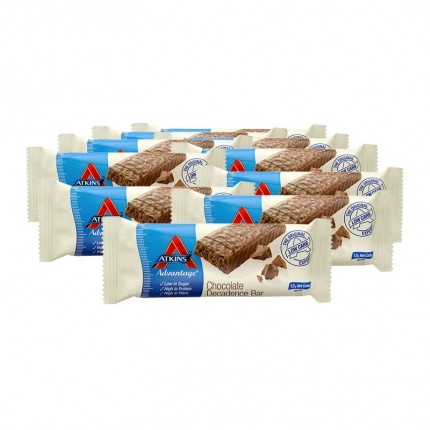 Atkins Advantage, Barre chocolatée low-carb, lot de 10