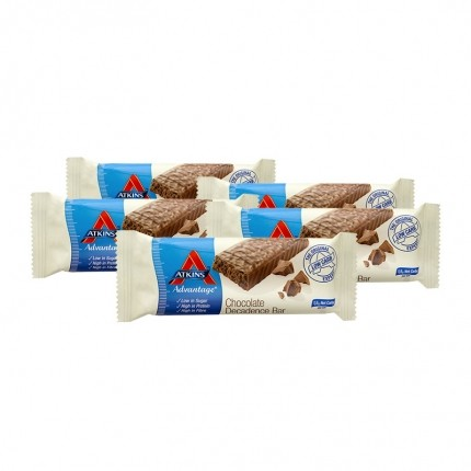 Atkins Advantage, Barre chocolatée low-carb, lot de 5