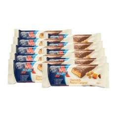 Atkins Advantage, Barre chocolatée low-carb caramel cacahuète, lot de 10